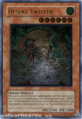 Picture of TAEV-EN034 Desert Twister Ultimate Rare UNL Edition Mint YuGiOh Card