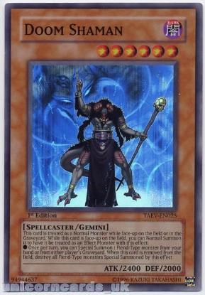 Picture of TAEV-EN025 Doom Shaman Super Rare 1st Edition Mint YuGiOh Card