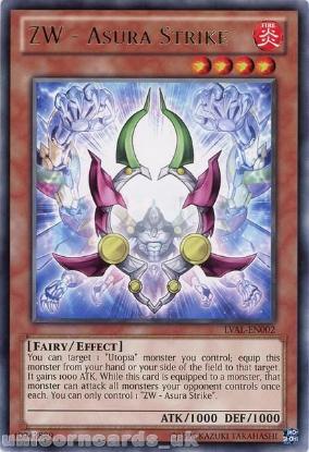 Picture of LVAL-EN002 ZW - Asura Strike Rare UNL Edition Mint YuGiOh Card