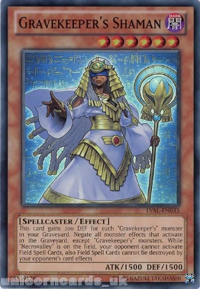 Picture of LVAL-EN033 Gravekeeper's Shaman Super Rare UNL Edition Mint YuGiOh Card