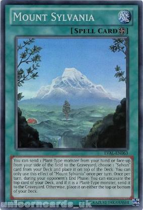 Picture of LVAL-EN063 Mount Sylvania Super Rare UNL Edition Mint YuGiOh Card