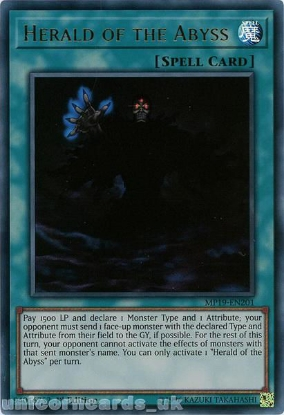 Picture of MP19-EN201 Herald of the Abyss Ultra Rare 1st Edition Mint YuGiOh Card