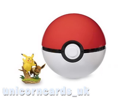 Picture of Pokemon TCG: Pikachu & Eevee Poke Ball and Collection Figure Toy ::