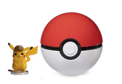 Picture of Pokemon TCG: Detective Pikachu On the Case Figure Collection Toy with Poke Ball :: Pikachu on Magnifying Glass ::