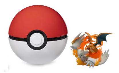 Picture of Pokemon TCG: Reshiram & Charizard-GX Figure Collection Toy with Poke Ball ::