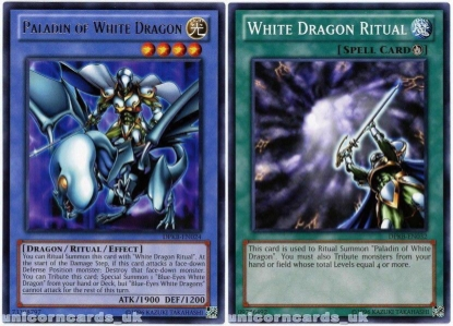Picture of DPKB-UNL Paladin of White Dragon Rare + White Dragon Ritual - 2 Mint YuGiOh Cards