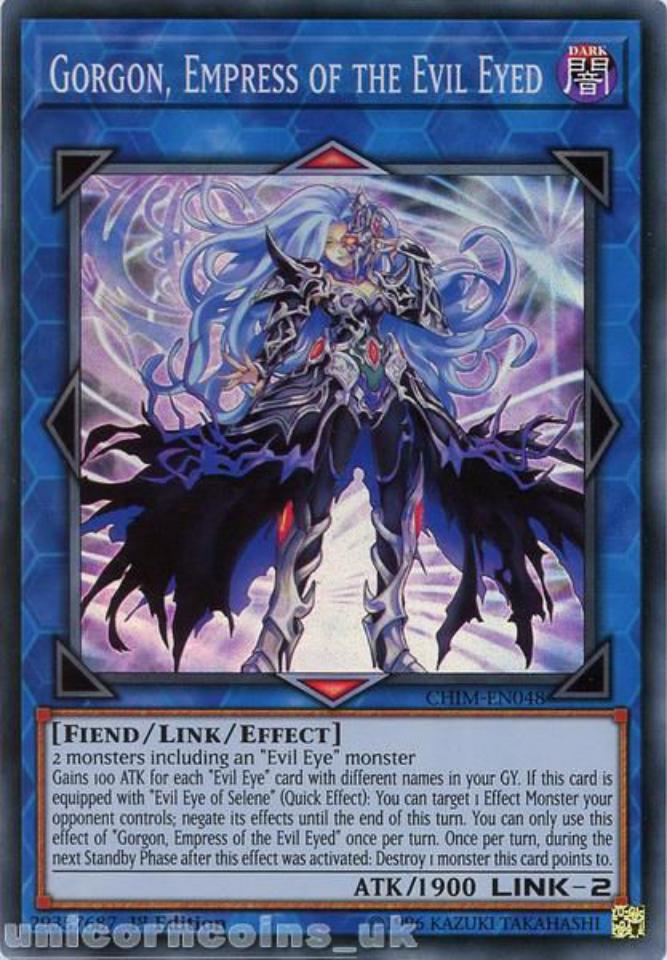 Empress of the Evil Eyed CHIM-EN048 Super Rare Yu-Gi-Oh Card Gorgon