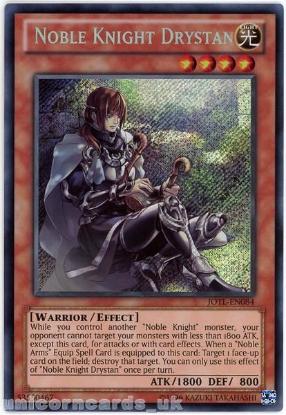 Picture of JOTL-EN084 Noble Knight Drystan Secret Rare UNL Edition Mint YuGiOh Card