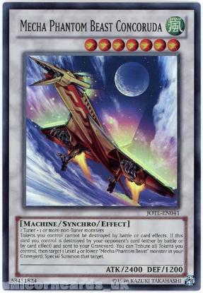 Picture of JOTL-EN041 Mecha Phantom Beast Concoruda Super Rare UNL Edition Mint YuGiOh Card