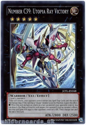 Picture of JOTL-EN048 Number C39: Utopia Ray Victory Super Rare UNL Edition Mint YuGiOh Card
