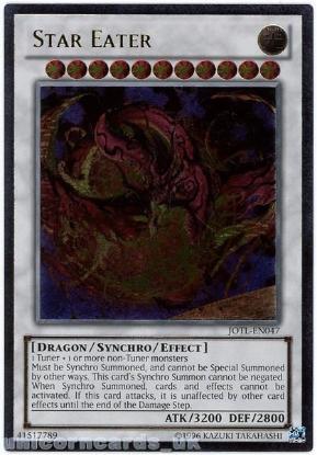 Picture of JOTL-EN047 Star Eater Ultimate Rare UNL Edition Mint YuGiOh Card