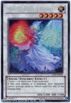 Picture of JOTL-EN045 Armades, Keeper of Boundaries Secret Rare UNL Edition Mint YuGiOh Card
