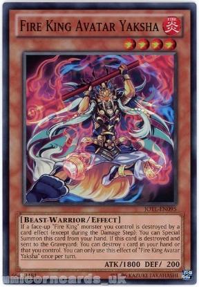 Picture of JOTL-EN095 Fire King Avatar Yaksha Super Rare UNL Edition Mint YuGiOh Card