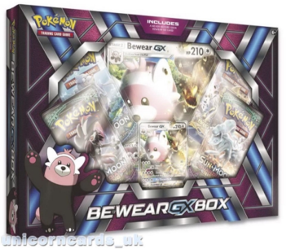 Picture of Pokemon TCG: Bewear GX Box :: 4 Booster Packs + Bewear-GX Promo Card :: Brand New And Sealed!