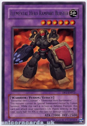 Picture of DP1-EN012 Elemental Hero Rampart Blaster Rare Mint YuGiOh Card