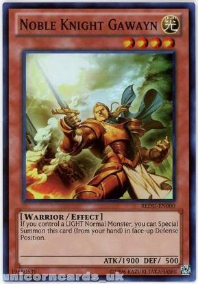 Picture of REDU-EN000 Noble Knight Gawayn Super Rare UNL Edition Mint YuGiOh Card