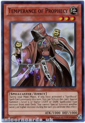 Picture of REDU-EN017 Temperance of Prophecy Super Rare UNL Edition Mint YuGiOh Card