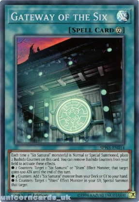 Picture of SPWA-EN014 Gateway of the Six Super Rare 1st Edition Mint YuGiOh Card