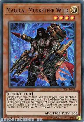 Picture of SPWA-EN021 Magical Musketeer Wild Super Rare 1st Edition Mint YuGiOh Card