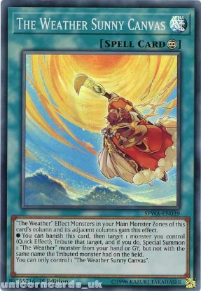 Picture of SPWA-EN039 The Weather Sunny Canvas Super Rare 1st Edition Mint YuGiOh Card