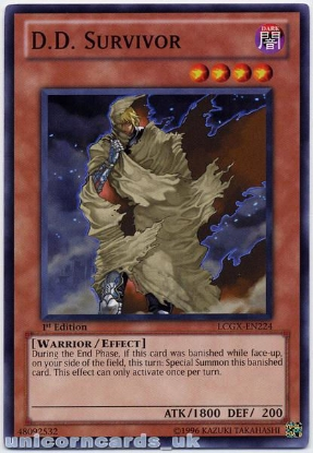 Picture of LCGX-EN224 D.D. Survivor 1st Edition Mint YuGiOh Card