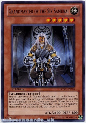 Picture of LCGX-EN226 Grandmaster of the Six Samurai Common 1st edition Mint YuGiOh Card