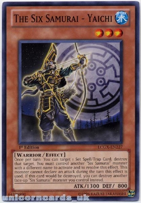 Picture of LCGX-EN227 The Six Samurai - Yaichi 1st Edition Mint YuGiOh Card