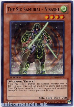 Picture of LCGX-EN230 The Six Samurai - Nisashi 1st Edition Mint YuGiOh Card