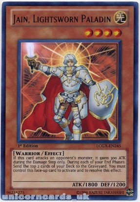 Picture of LCGX-EN245 Jain, Lightsworn Paladin Ultra Rare 1st Edition Mint YuGiOh Card