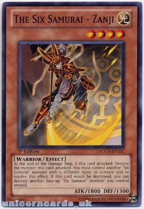 Picture of LCGX-EN231 The Six Samurai - Zanji 1st Edition Mint YuGiOh Card