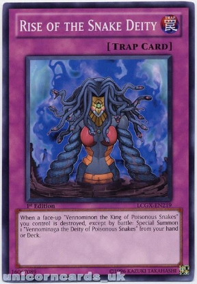 Picture of LCGX-EN219 Rise of the Snake Deity 1st Edition Mint YuGiOh Card