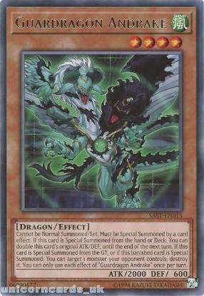 Picture of SAST-EN015 Guardragon Andrake Rare UNL Edition Mint YuGiOh Card