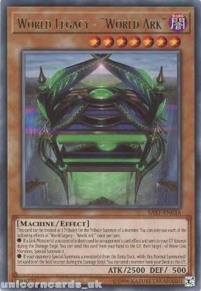 "Picture of SAST-EN016 World Legacy - ""World Ark"" Rare UNL Edition Mint YuGiOh Card"