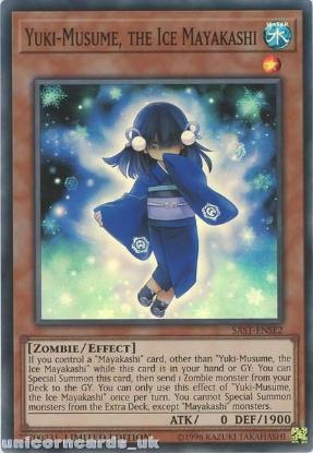 Picture of SAST-ENSE2 Yuki-Musume, the Ice Mayakashi Super Rare Limited Edition Mint YuGiOh Card