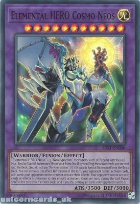 Picture of SAST-EN036 Elemental HERO Cosmo Neos Super Rare UNL Edition Mint YuGiOh Card