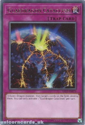 Picture of SAST-EN073 Guardragon Cataclysm Rare UNL Edition Mint YuGiOh Card