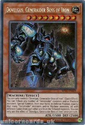 Picture of MYFI-EN029 Dovelgus, Generaider Boss of Iron Secret Rare 1st Edition Mint YuGiOh Card