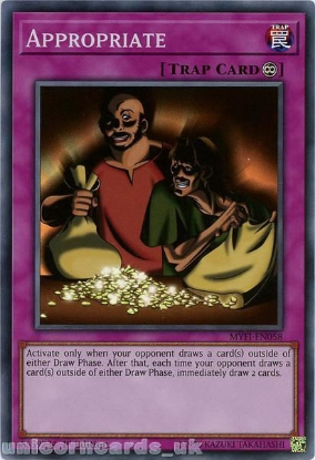 Picture of MYFI-EN058 Appropriate Super Rare 1st Edition Mint YuGiOh Card