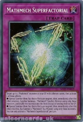 Picture of MYFI-EN012 Mathmech Superfactorial Secret Rare 1st Edition Mint YuGiOh Card