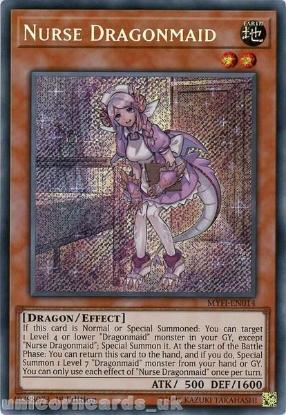 Picture of MYFI-EN014 Nurse Dragonmaid Secret Rare 1st Edition Mint YuGiOh Card