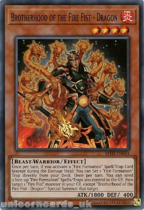 Picture of MYFI-EN044 Brotherhood of the Fire Fist - Dragon Super Rare 1st Edition Mint YuGiOh Card