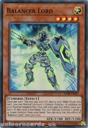 Picture of MYFI-EN047 Balancer Lord Super Rare 1st Edition Mint YuGiOh Card