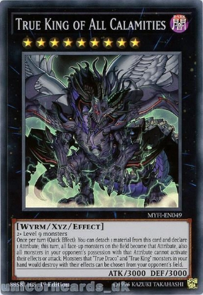 Picture of MYFI-EN049 True King of All Calamities Super Rare 1st Edition Mint YuGiOh Card