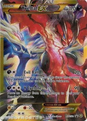 Picture of Yveltal EX XY150a Alternate Art Holo Mint Pokemon Card