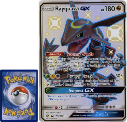 Picture of Rayquaza GX 177a/168 JUMBO OVERSIZED Holo Mint Pokemon Card