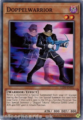Picture of LED6-EN031 Doppelwarrior Common 1st Edition Mint YuGiOh Card