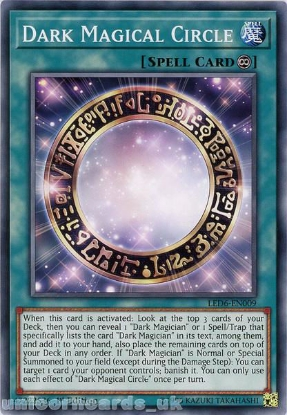 Picture of LED6-EN009 Dark Magical Circle Common 1st Edition Mint YuGiOh Card