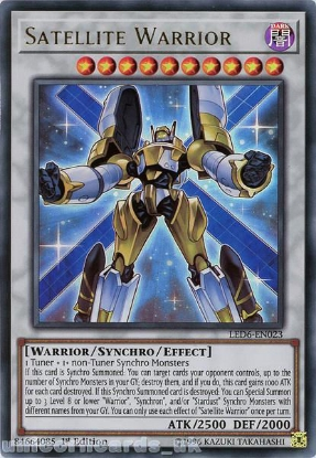Picture of LED6-EN023 Satellite Warrior Ultra Rare 1st Edition Mint YuGiOh Card