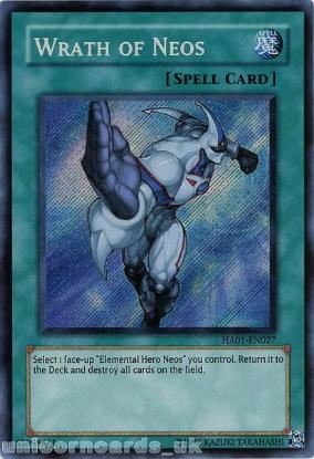 Picture of HA01-EN027 Wrath of Neos Secret Rare UNL Edition Mint YuGiOh Card