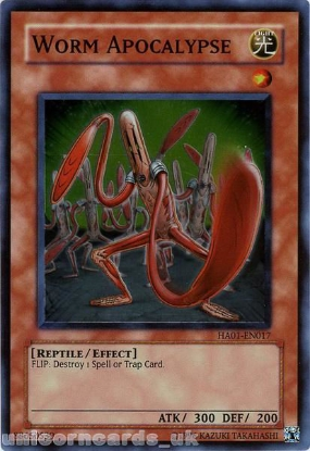 Picture of HA01-EN017 Worm Apocalypse Super Rare UNL Edition Mint YuGiOh Card